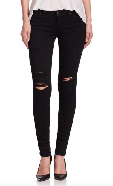 Paige Denim - Verdugo Transcend Distressed Ultra Skinny Jeans